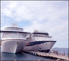 Cruise Ships Berthed At Port Zante