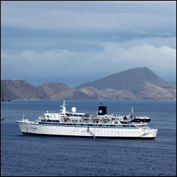MV Freewinds off St. Kitts