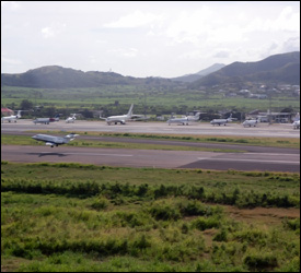 Private Jets At St. Kitts Airport